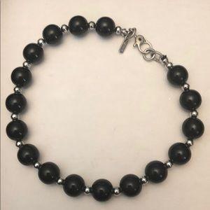 Monet black faux pearls bracelet